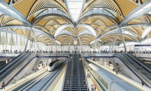 A design of the proposed HS2 platforms at Euston station in London