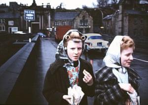 Mill Girls, Elland, Yorkshire, England, 1965