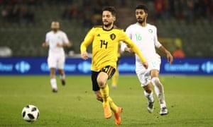 Dries Mertens takes on the Saudi Arabia defence, but the Napoli player has been criticised for not doing tracking back enough.