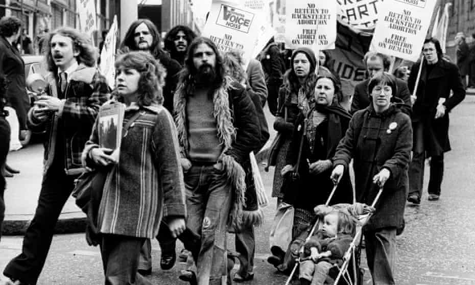 A pro-abortion demonstration in 1977, on the 10th anniversary of the act.