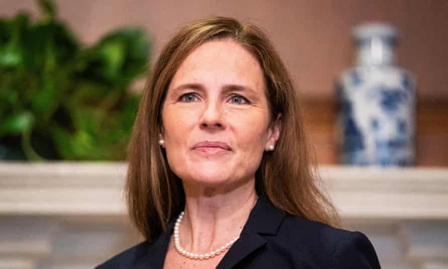 Amy Coney Barrett in Washington his week. She is expected to be confirmed to the supreme court on Monday.