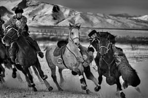 A game of Kok Boru, the national sport, in the village of Sovietkoe ,40 km from Karakol in Kyrgyzstan