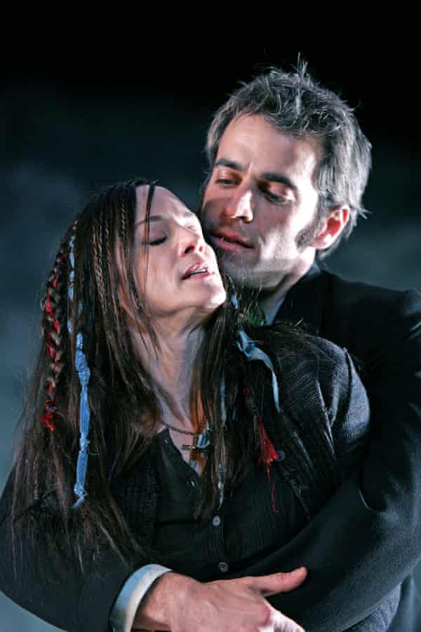 Holly Hunter and Gordon MacDonald in The Bog of Cats at Wyndhams theatre, London.