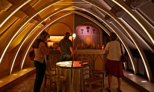 Is it a church, or a bar? Bisected room in the Erik Satie Museum, Honfleur