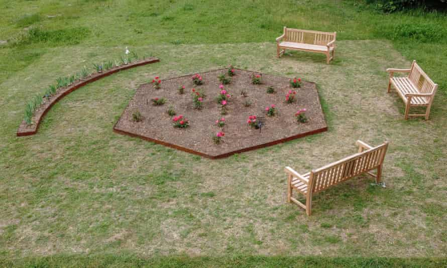 An English Garden by Gabriella Hirst in Gunners Park, Shoeburyness, before it was removed.