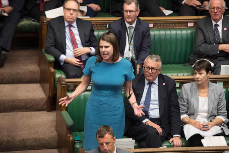 Liberal Democrat leader Jo Swinson during Prime Minister's Questions in the House of Commons on 4 September