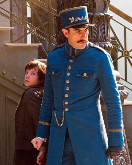 With Asa Butterfield in Hugo.