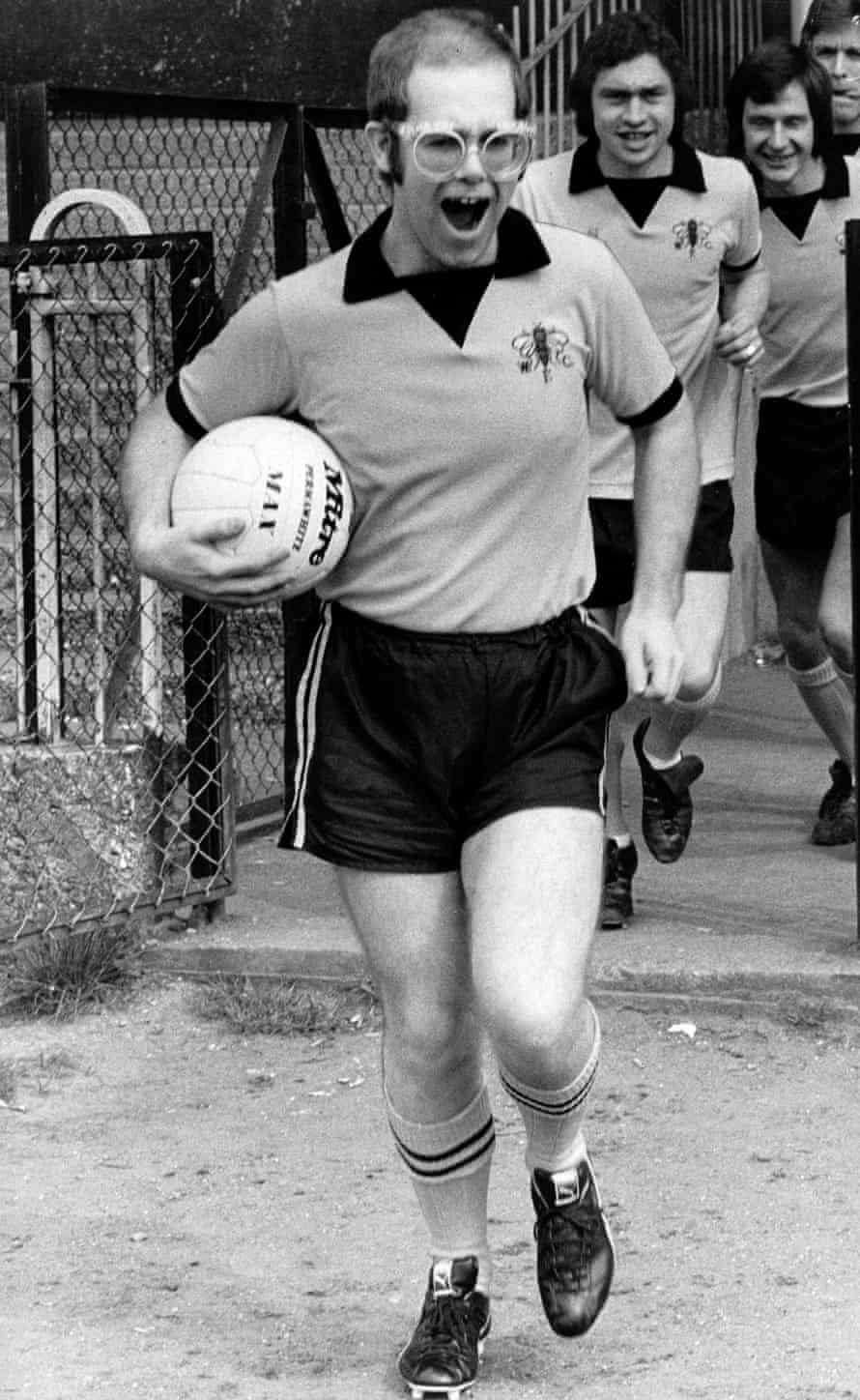 With Watford FC, 1974.