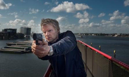 On the case in Amsterdam … Marc Warren in the TV police drama Van der Valk.
