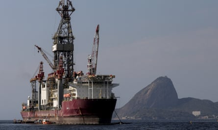 An oil and gas drillship is seen in the Guanabara Bay in Rio de Janeiro, Brazil. Green groups have warned the country is opening itself up to big oil with its subsidies plan.