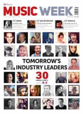 Music Week magazine's14 March 2016  '30 under 30' issue