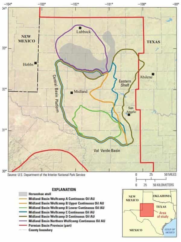 Midland Basin map.