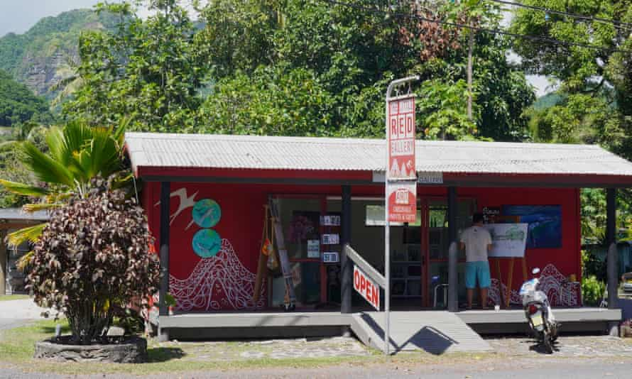 The Little Red Art Gallery in Avarua. Covid-related border closures have hit the Cook Islands hard.