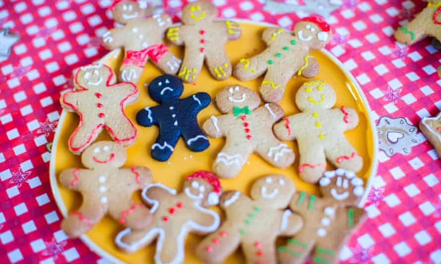 Colorful gingerbread cookies.