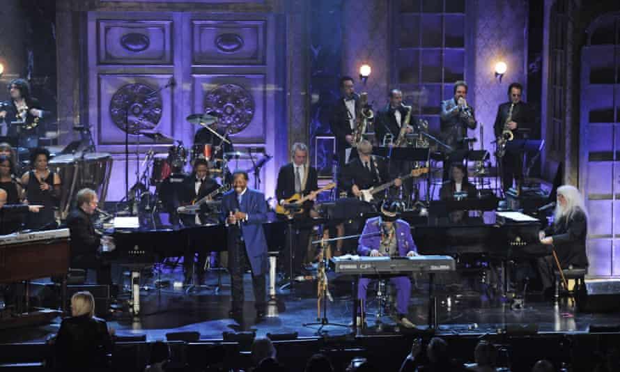 Lloyd Price performing with Elton John, left, in 2011.