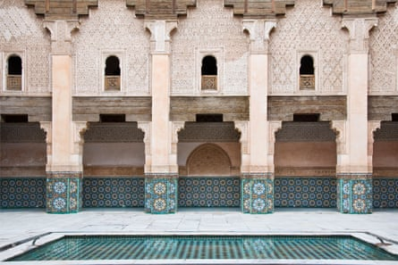 Warm and gentle... Ben Youssef madrasa in Marrakech.