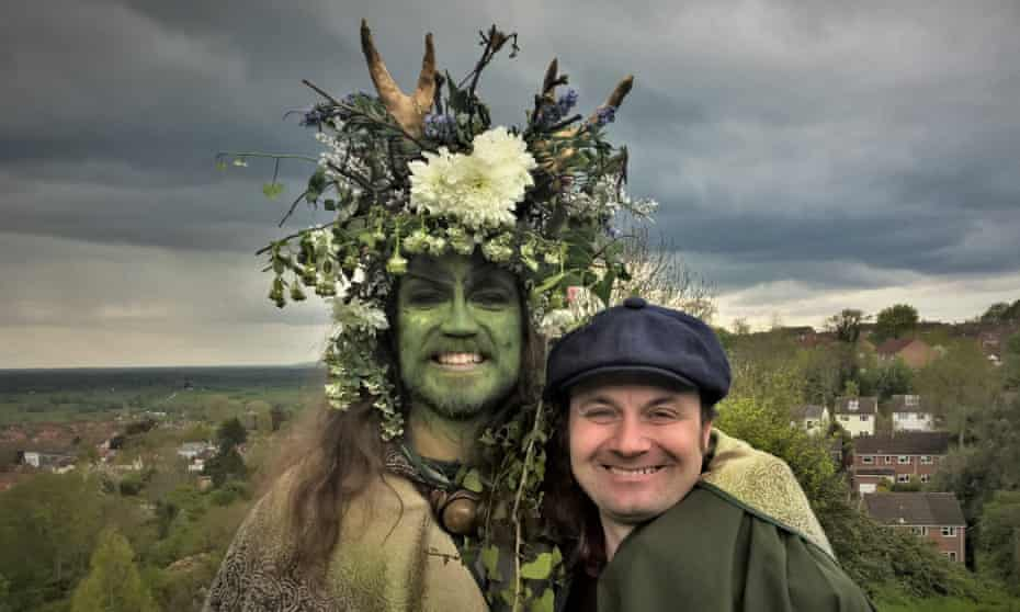 Peter Ross celebrates the festival of Beltane with one of the Green Men.
