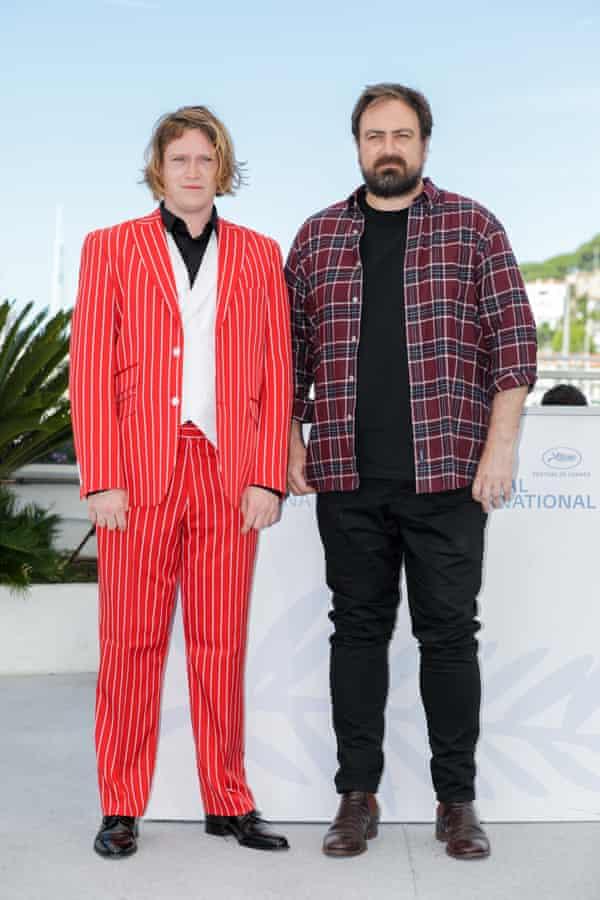 Caleb Landry Jones and Justin Kurzel in Cannes in July