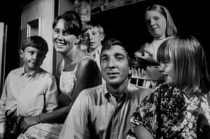 Praised to an extent few writers will ever achieve … John Updike and family in 1966.