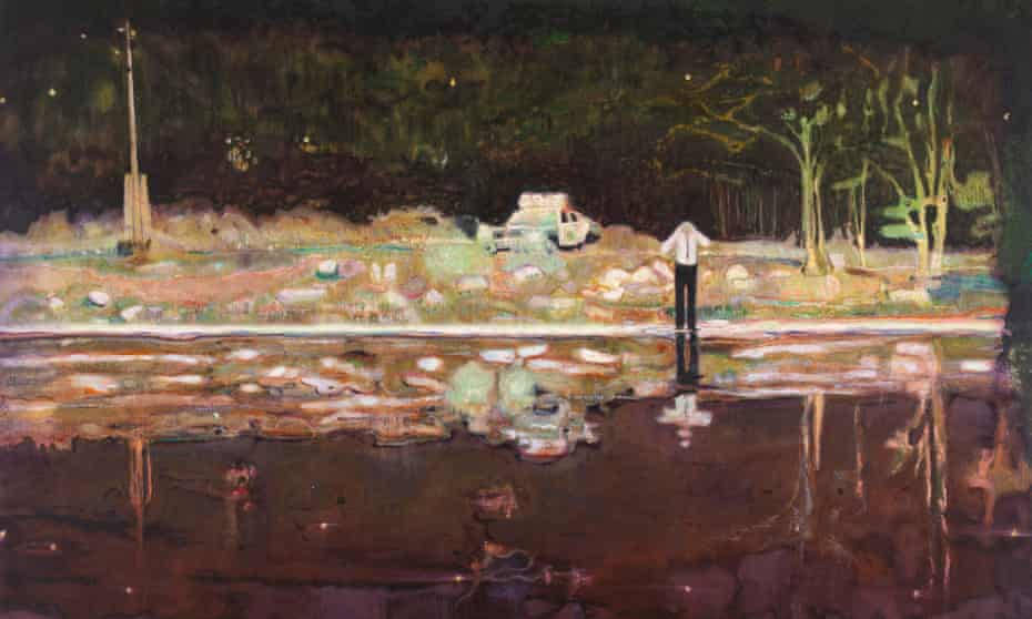 Peter Doig's painting Echo Lake, 1998.