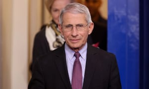 Dr Anthony Fauci in Washington DC, on 22 April.