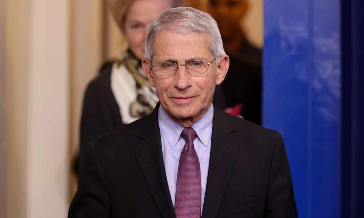 Dr Anthony Fauci in Washington DC, on 22 April. Photograph: Jonathan Ernst/Reuters