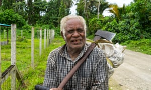 'Would Australia mind helping us fund the farm?' joked Stephen Donga on Malaita island, after Taiwan pulled its support following the diplomatic row.