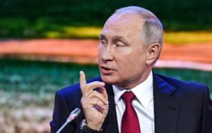 Russia's President Vladimir Putin today
