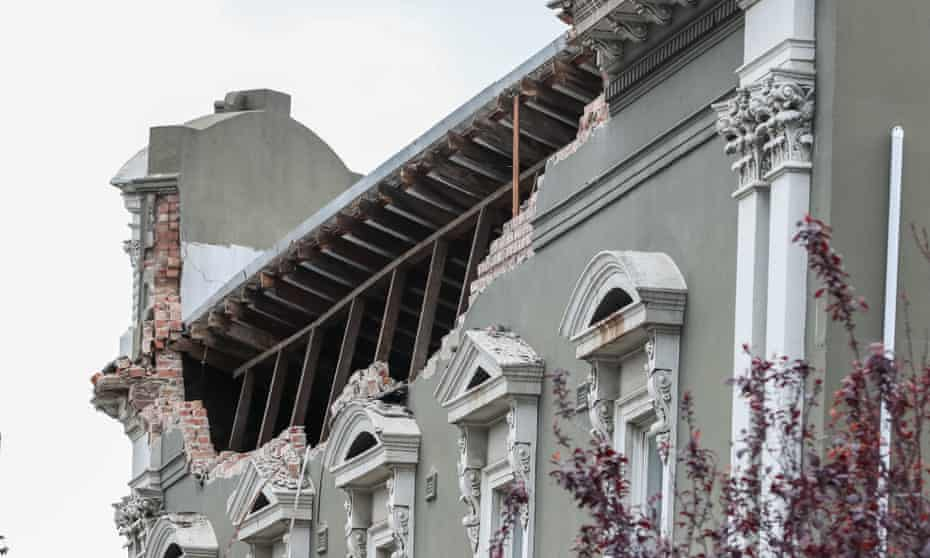 Building damaged in Melbourne earthquake