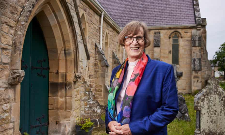 Rev Diana Johnson at St James's church in Riding Mill, Northumberland.