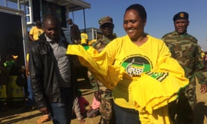 Thoko Didiza, the ANC mayoral candidate for Pretoria, campaigning in the Soshanguve township.