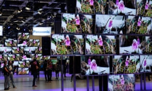 4K TV screens at the IFA consumer electronics fair in Berlin