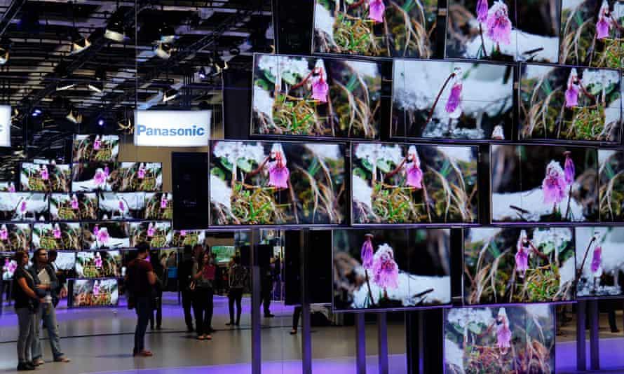4K TV screens at the IFA consumer electronics fair in Berlin