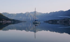 Yacht on Bay of Kotor