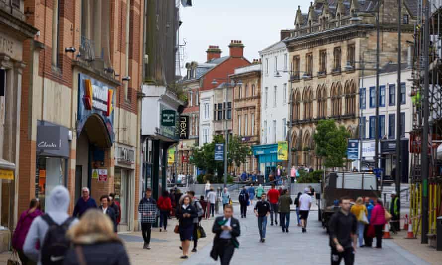 Darlington town centre in 2018