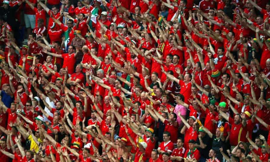 Wales fans watch the Euro 2016 semi-final against Portugal