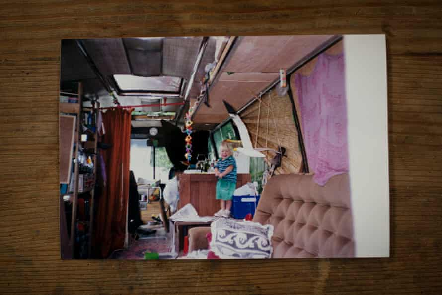 The converted Bedford Dominant bus that Jess in the west of England bought for £1000 in Spain in 2001.