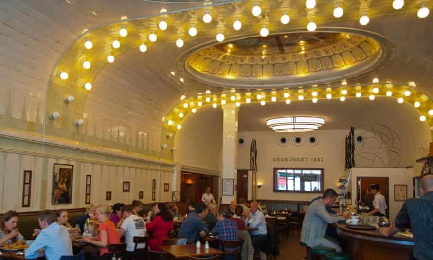 Cafe Paris interior Altstadt old town Hamburg