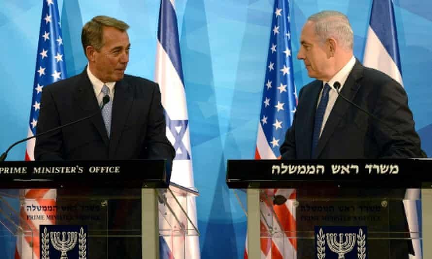 John Boehner and Binyamin Netanyahu met last week in Jerusalem.