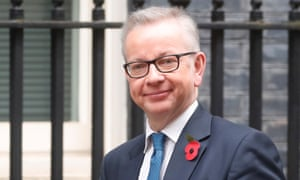 Chancellor of the Duchy of Lancaster Michael Gove is seen outside Downing Street in London, Britain November 5, 2019.