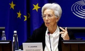 Christine Lagarde in Brussels in February.