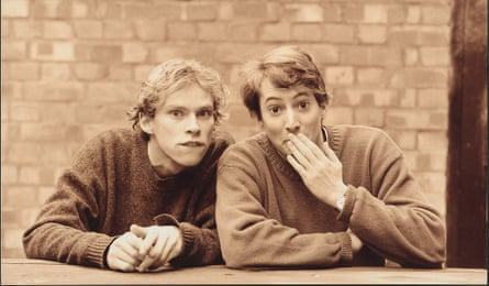 David Mitchell and Robert Webb, in Cambridge in the 1990s, in a photograph taken to promote their first two-man show