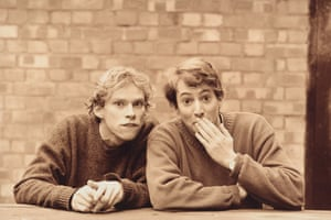 Webb and Mitchell in their Cambridge days, mid-90s. The picture was taken for the poster advertising their first two-man show.