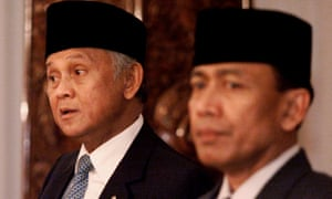 Indonesian president BJ Habibie with General Wiranto.
