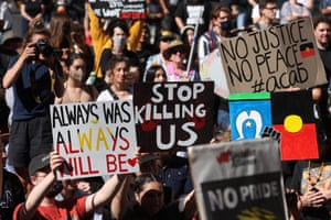 Protesters march in Sydney