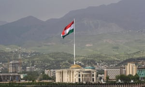 Tajikistan's flag flies above a building in Dushanbe, which is around 150 miles from where the incident took place.