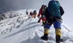 Mountaineers on Everest