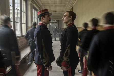 Stench of establishment sulphur … Jean Dujardin and Louis Garrel in An Officer and a Spy.