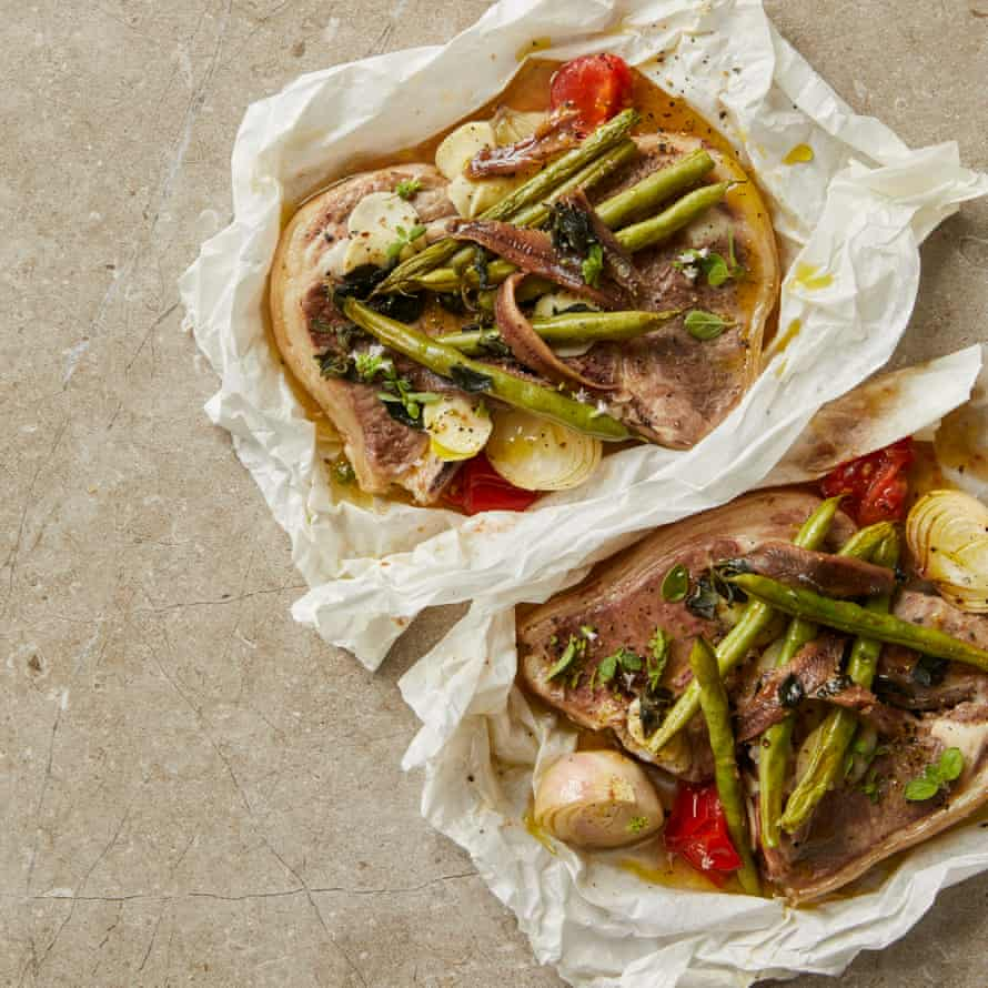 Russell Norman's autumn lamb chops in parcels.