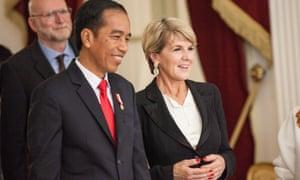 President Joko Widodo meets Julie Bishop in Jakarta in October.